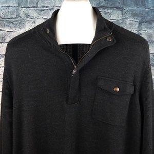 Banana Republic Sweaters - Banana Republic XXL Black Half Zip Sweater